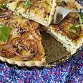 tarte coupée de courgette