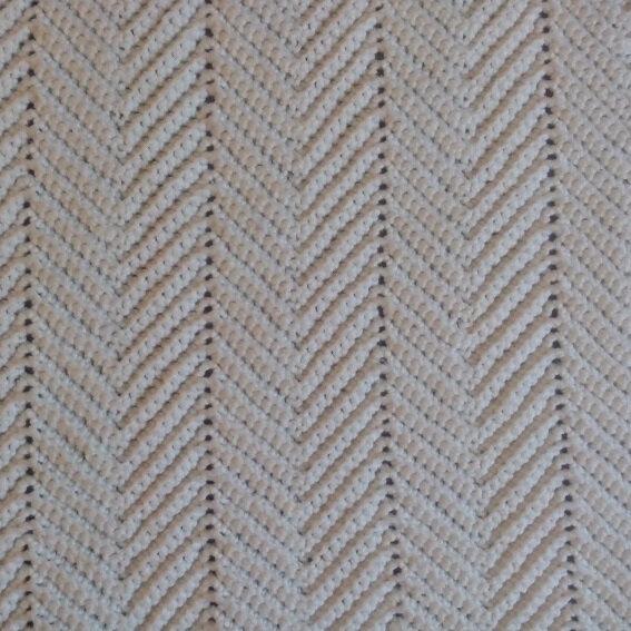 couverture crochet chevron