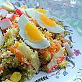 Idee repas facile de salade de recette couscous marocain