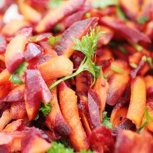 carottes pourpres citron et coriandre
