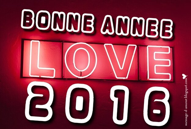 bonne annee 2016 whith love