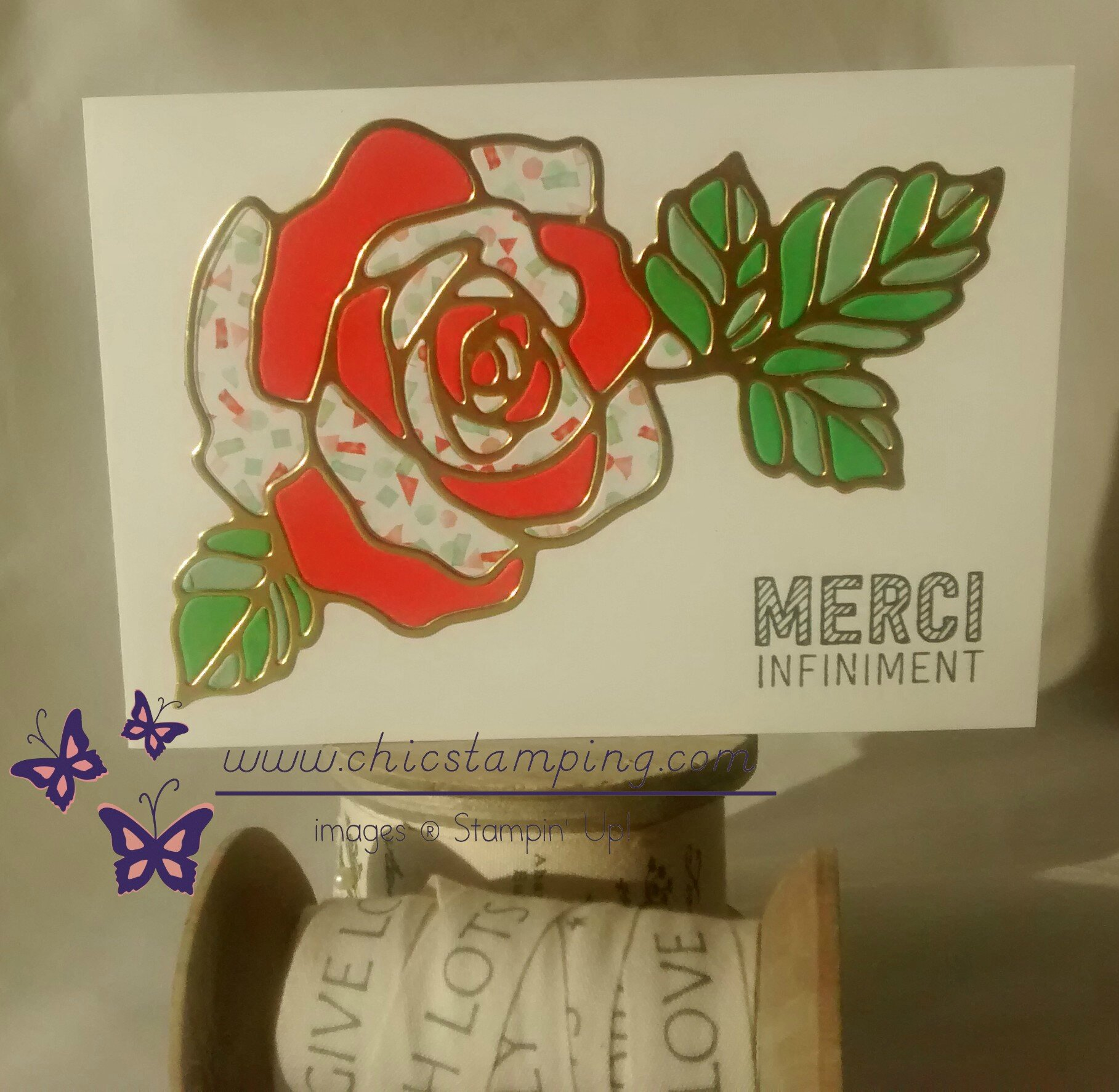 Rose garden birthday card
