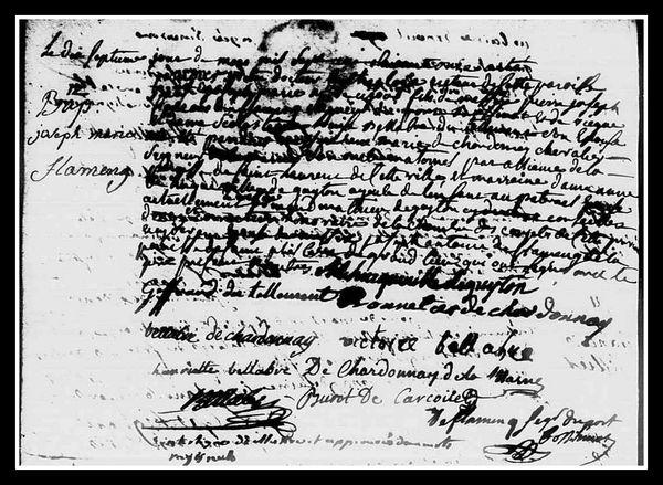 Acte naissance Joseph-Marie DE FLAMENG