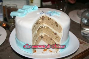 Maple & pecan layer cake part