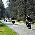 Les motards majoritaires sur la butte de montsec, en meuse, ce 27 février