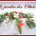 composition florale table d'honneur - 3m de long