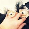 bijou femme bague fleur plume perle champagne noir mariage cérémonie cereza deco 1