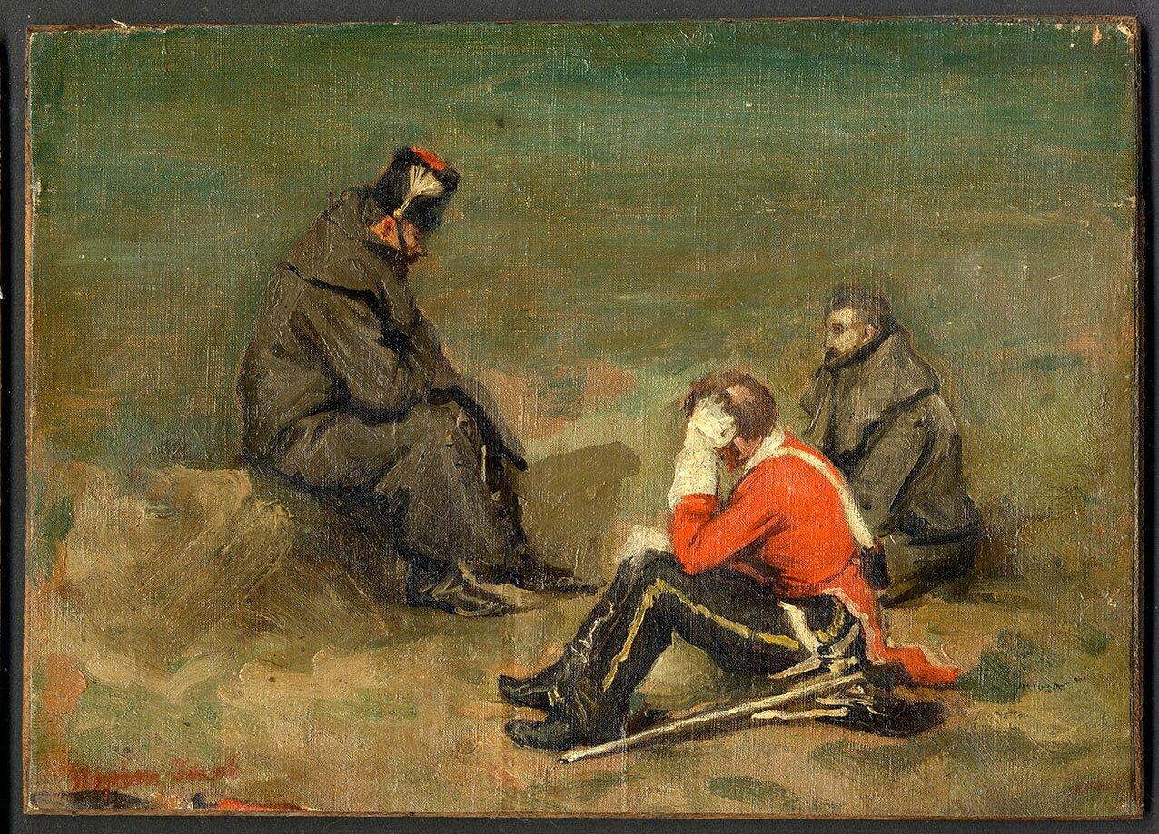 Jacob, esquisse de militaires allemand, 1870