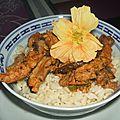 Sautee de viande aux shiitake