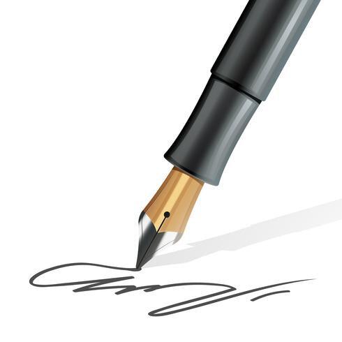 vector-fountain-pen-realistic