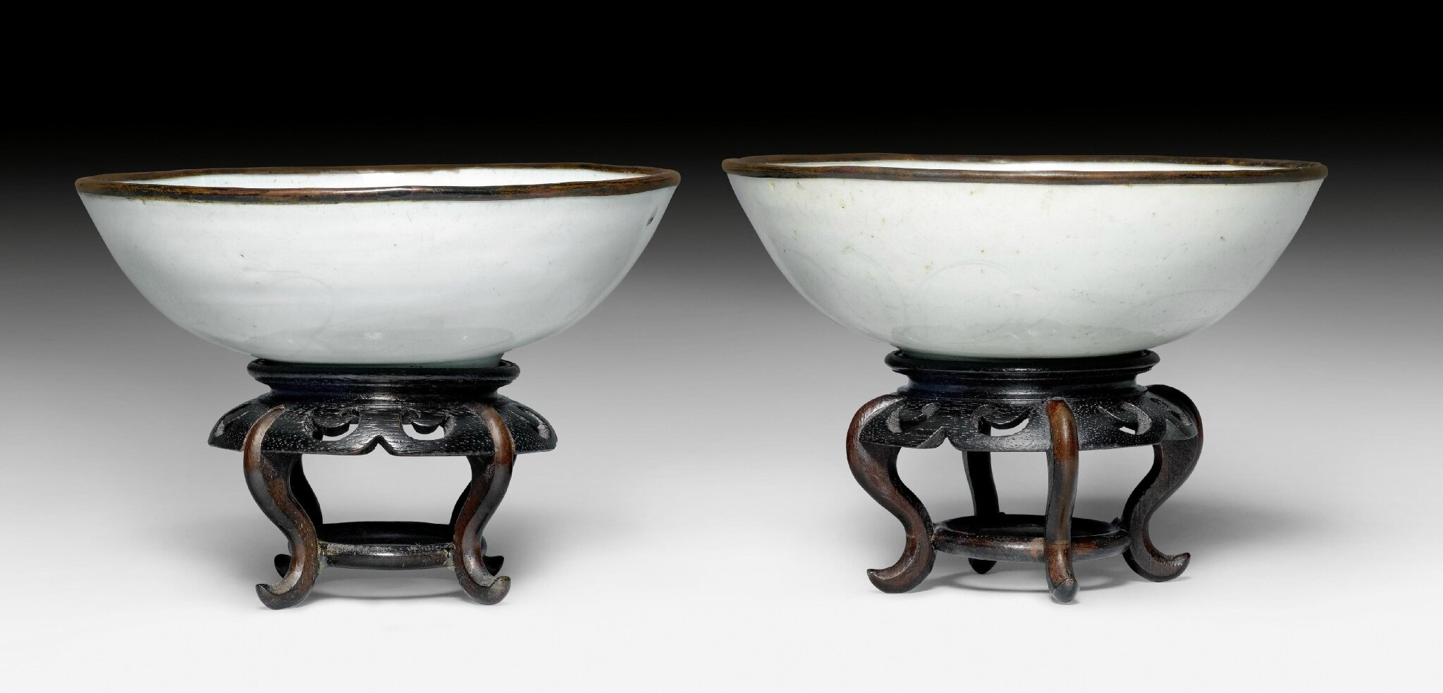 A pair of Qingbai bowls incised with flowers, China, Southern Song dynasty (1127-1279)