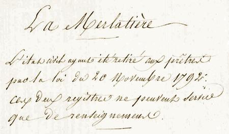 La Merlatiere 1792