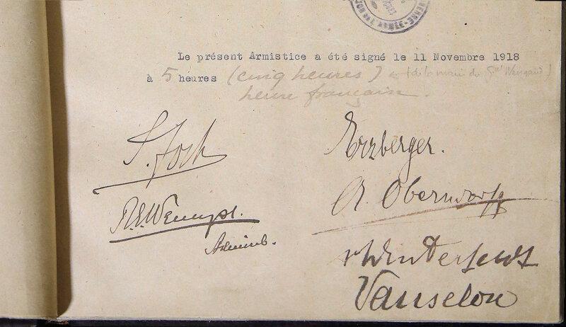 signatures Armistice 14-18