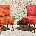 Fauteuils cocktail 50's (à restaurer)