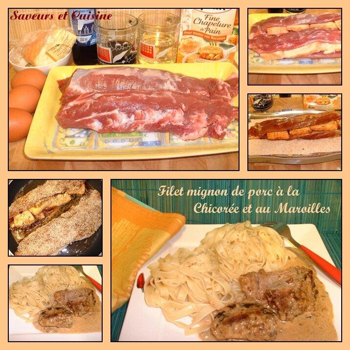 Filet mignon de porc à la chicorée et au Maroilles