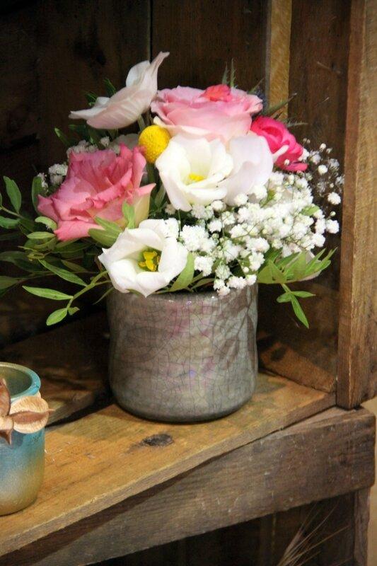 Décoration mariage - Petit centre de table champêtre - création La Saladelle - Atelier floral Perpignan et Pyrénées-Orientales 07