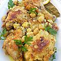 Yahni bel djej tajine de beignets de poulet