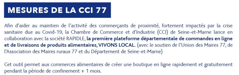 Mesures CCI 77