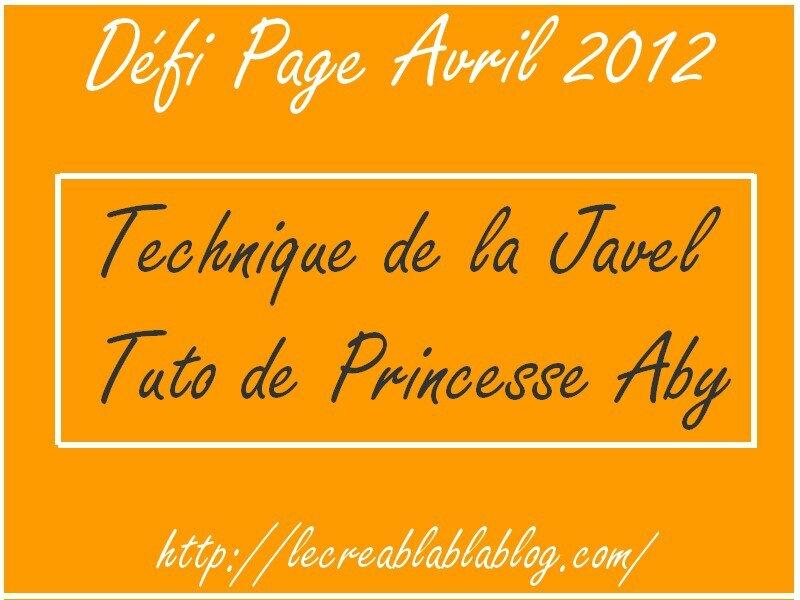 Défi Page Avril 2012
