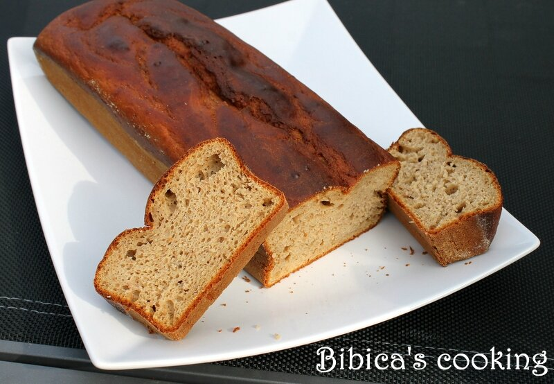 Banana bread léger au peanut butter au Cook'in (ou pas) coupe