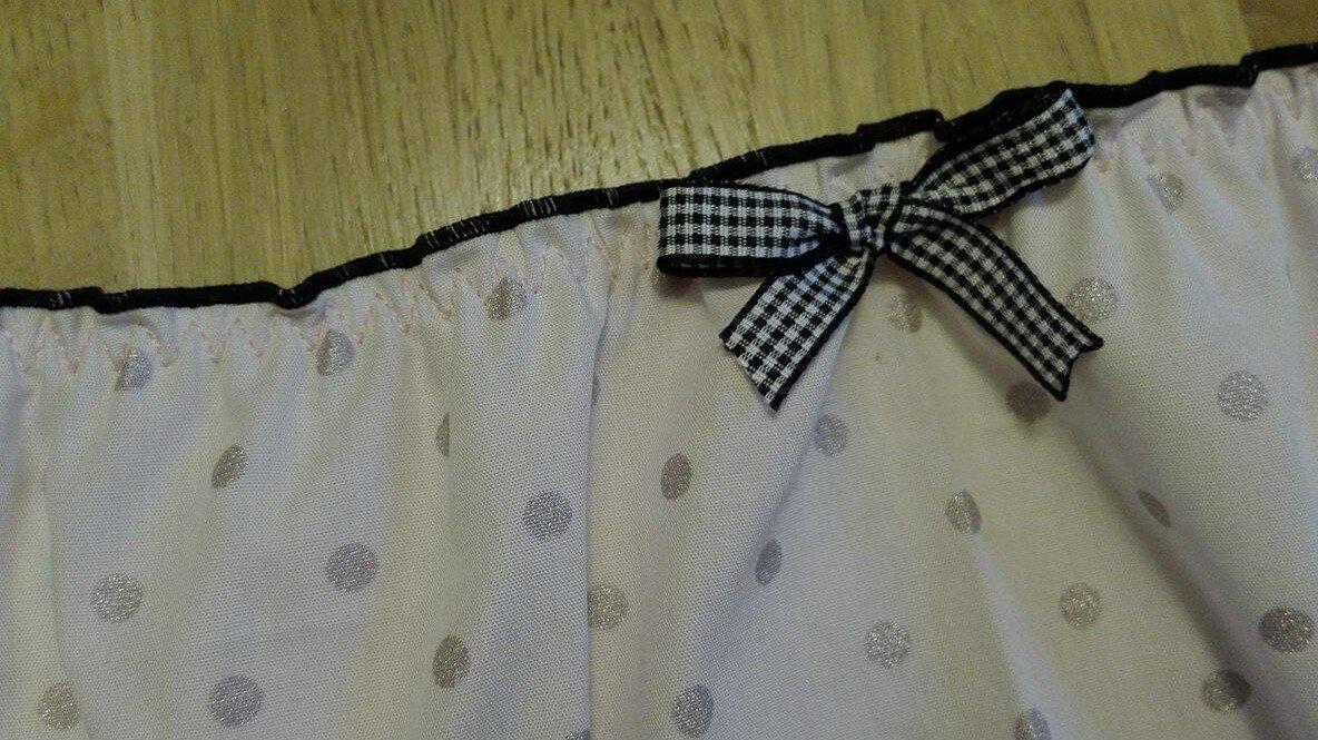 Culotte CHARLOTTE ne coton rose à pois pailletés - taille M (1)