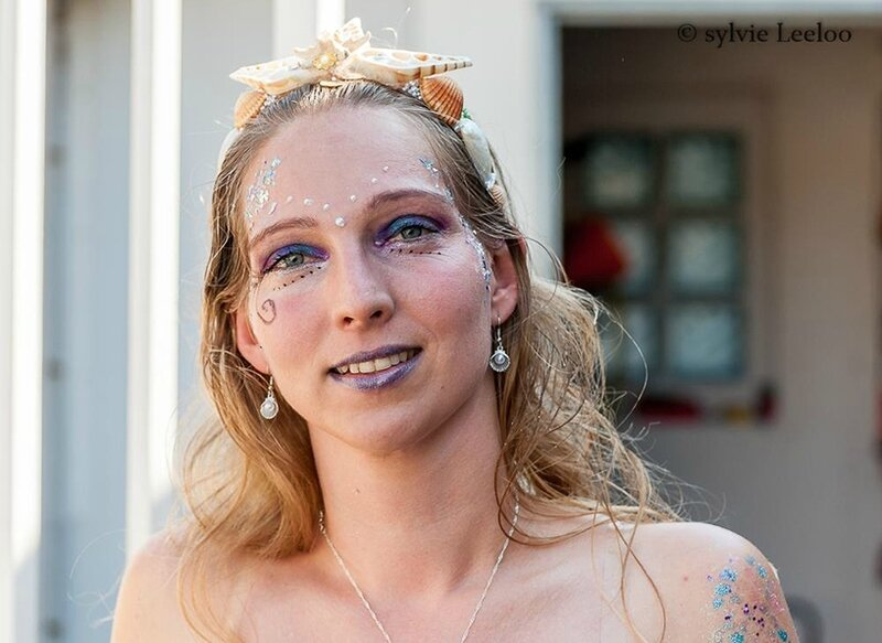 Freya Mermaid - Maquillage de Freya - photo de Sylvie Leeloo