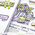 4enscrap ... tutoriel ... une carte et un carnet en mode aquarelle pour version scrap