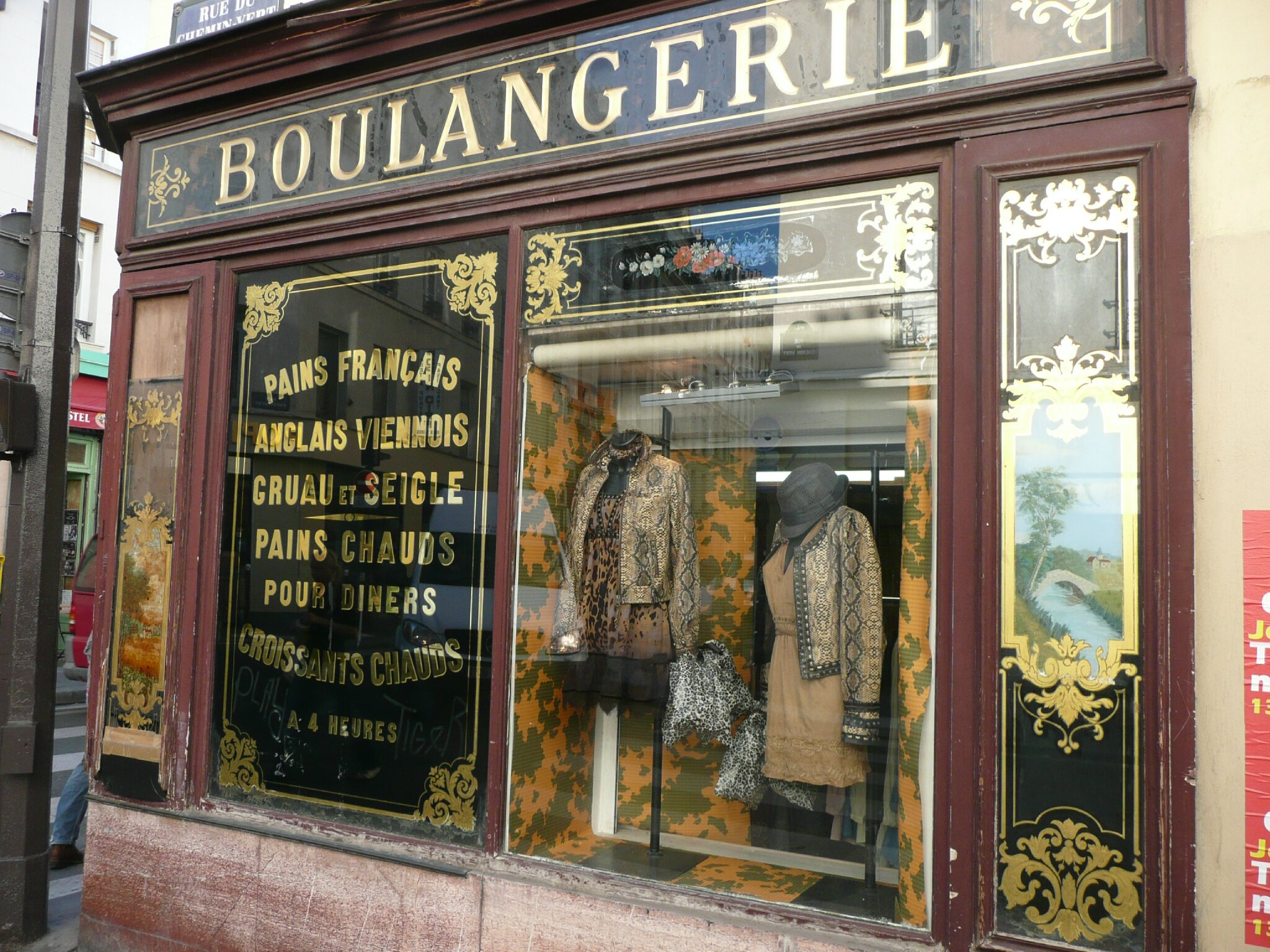 boulangerie paris 11 habillement humour photo devanture vitrine magasin viennois croissant. Black Bedroom Furniture Sets. Home Design Ideas