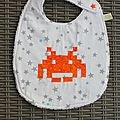 Bavoir geek junior space invader