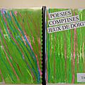 Cahier de poésies, comptines, jeux de doigts