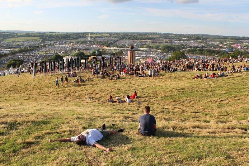 Glastonbury festival 2014 Ribbon Tower site