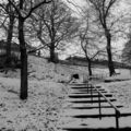 London road gardens, sous la neige...