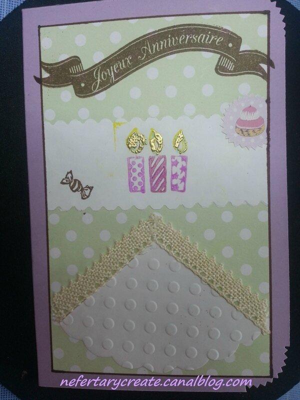 Une petite carte d'anniversaire