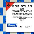 Bob dylan with tom petty & the heartbreakers - mercredi 7 octobre 1987