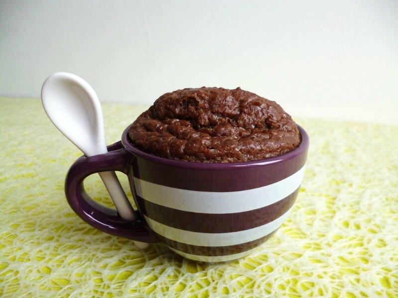 Mug Cake Hyperprotéiné Chocolat Cacahuète Et Psyllium Diététique