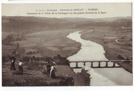 24 - DOMME - Panorama de la Vallée de la Dordogne