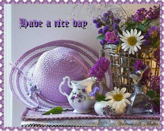 Have a nice day mauve