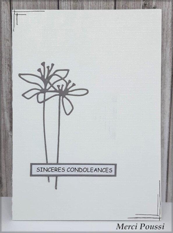 Carte de condoléances de Poussi - Octobre 2019