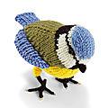 Mésange bleue à tricoter ( avec les explications) !