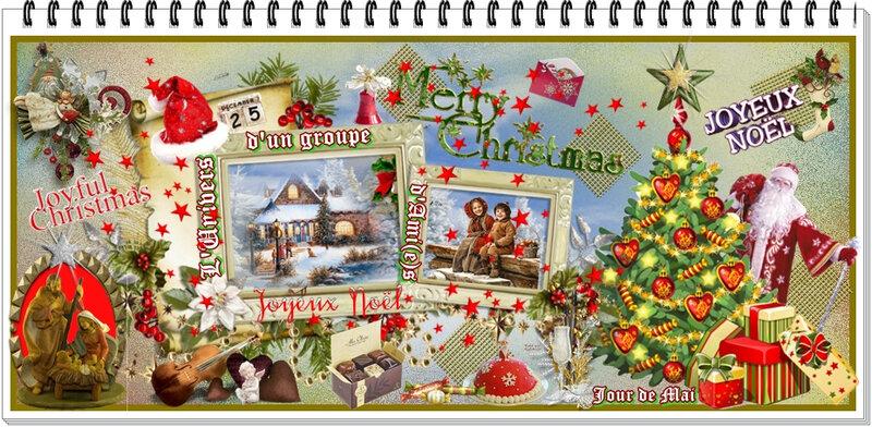 Bannière Decembre Merry Christmas