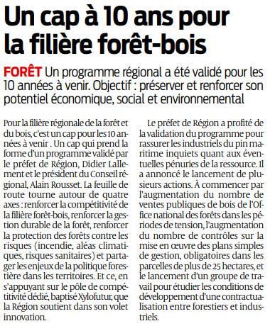 2019 03 14 SO Un cap à 10 ans pour la filière forêt-bois