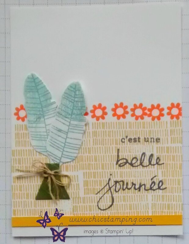 DIY project life card series bontanical bloom #1