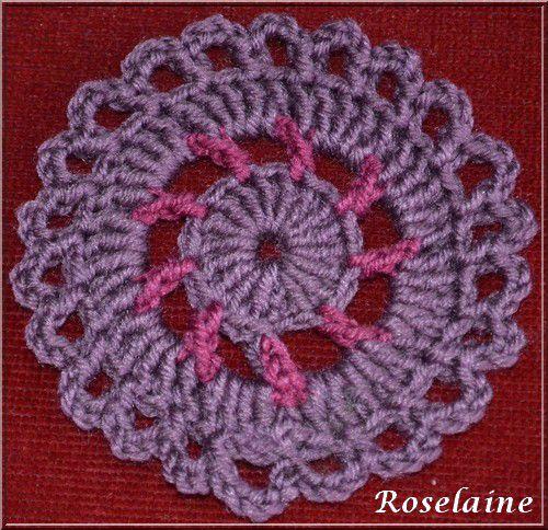 Roselaine662 granny crochet motif 2