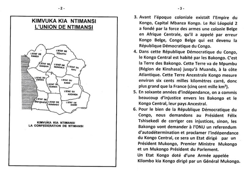 L'INJUSTICE ENVERS LES BAKONGO ET LE KONGO CENTRAL b