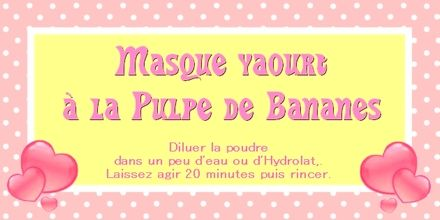 Masque yaourt à la banane