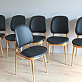Série 6 chaises baumann par p. guariche