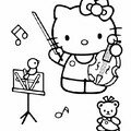 HELLO KITTY JOUE DU VIOLON