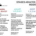 Stages 2012 - adultes -