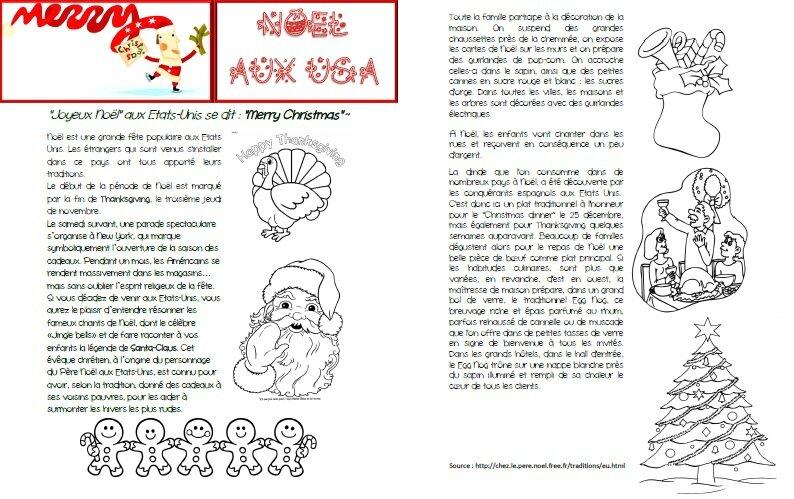 Culture et civilisation am ricaine no l aux usa des documents p dagogiques partager pour - Christmas cycle 3 ...