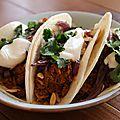 Tacos au pulled pork presque comme à auckland